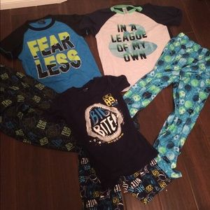 Other - 3 Boys pajamas sets sz 12 14 Fall Summer